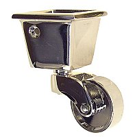 Square Cup Caster - Polished Nickel