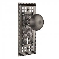 Complete Door Hardware Set - with Craftsman Plate with New York Knob