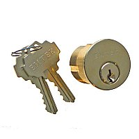 Mortise Lock Cylinder, 1-3/8""