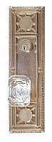 "Nantucket 13-7/8"" Plate Entry Door Set with Andover Crystal Knob - Multiple Finishes"