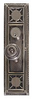 "Nantucket 13-7/8"" Plate Entry Door Set with Sunburst Knob - Multiple Finishes"