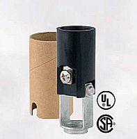 "Candelabra 2"" Socket with paper shell insulator - Leviton Brand"