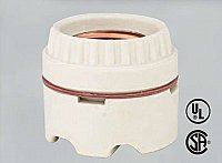 Standard Base 2-Piece Unglazed Porcelain Socket with Screw Terminals