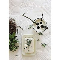 White Enamel Soap Dish - Two Piece