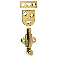 "2"" Surface Door Bolt, Polished Brass"