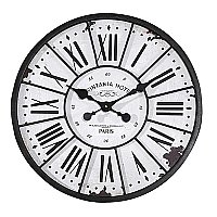Round Metal & MDF Wall Clock-24""