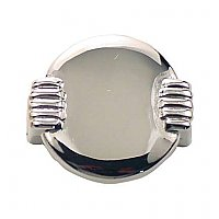 Round Art Deco Cabinet Pull, Polished Nickel