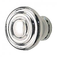 Round Deco Cabinet Knob, Polished Nickel
