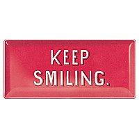 Keep Smiling Long Glass Tray