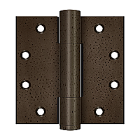 "Solid Brass 4-1/2"" x 4-1/2"" Heavy Duty Square Hinge - Pair"