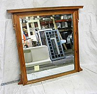 Antique Beveled Mirror With Egg & Dart Details