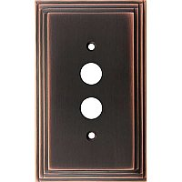 Deco Antique Copper Single Toggle Forged Switchplate