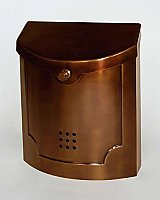 Wall Mailbox, Antique Copper Steel Finish