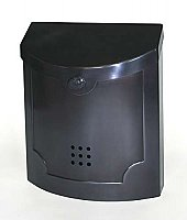 Wall Mailbox, Black Pewter Finish