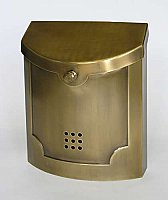 Wall Mailbox, Satin Brass Finish