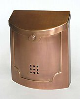 Wall Mailbox, Copper Steel Finish