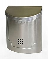 Wall Mailbox, Satin Nickel Finish