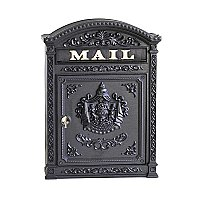 Classic Mailbox with Latch, Black