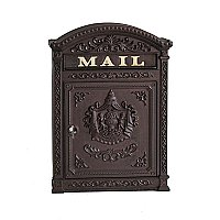 Classic Mailbox with Latch, Rust Brown