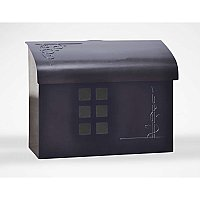 Arts & Crafts Mailbox, Black Pewter