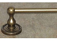"Edwardian Ribbon Backplate 30"" Single Towel Bar in German Bronze"