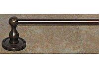 "Edwardian Ribbon Backplate 30"" Single Towel Bar in Antique Pewter"