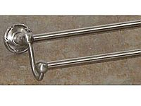 "Edwardian Ribbon Backplate 30"" Double Towel Bar in Brushed Satin Nickel"