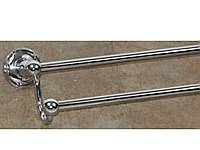 "Edwardian Ribbon Backplate 30"" Double Towel Bar in Antique Pewter"
