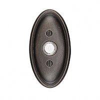 Lighted Bronze Electric Doorbell, Tuscany Oval Style, Multiple Finishes