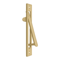 "Solid Brass Pocket or Sliding Door Edge Pull - 6-3/16"" - Multiple Finishes"