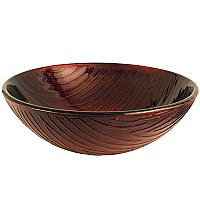 "Fauceture Copper Stone 16-1/2"" Diameter Round Glass Vessel Sink  - Copper Amber"