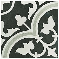"Arte Due 9-3/4""x 9-3/4"" Porcelain Tile -Gray/Black- Per Case- .94 Square Feet"