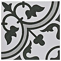 "Arte Grey 9-3/4""x 9-3/4""Porcelain Tile - White/Gray- Per Case- .94 Square Feet"