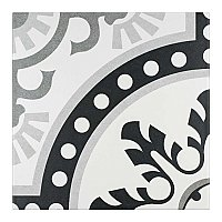 "Duart Grey 9-3/4"" x 9-3/4"" Porcelain Tile - Black, Grey & White - Per Case of 16 - 10.76 Square Feet"