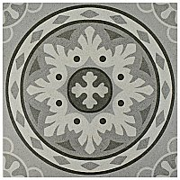 "Habana Grey 9-3/4"" x 9-3/4"" Porcelain Tile - - Sold Per Case of 16 - 11.11 Square Feet"