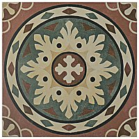 "Habana Rosso 9-3/4"" x 9-3/4"" Porcelain Tile - Sold Per Case of 16 - 11.11 Square Feet"