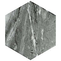 "Classico Bardiglio Hexagon Dark 7"" x 8"" Porcelain Tile - Sold Per Case of 35 Tile - 11 Square Feet Per Case"