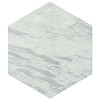 "Classico Bardiglio Hexagon Light 7"" x 8"" Porcelain Tile - Sold Per Case of 25 Tile - 7.67 Square Feet Per Case"