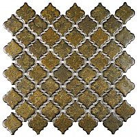 "Hudson Tangier Brownstone 12-3/8"" x 12-1/2"" Porcelain Mosaic Tile - Sold Per Case of 10- 10.96 Square Feet"