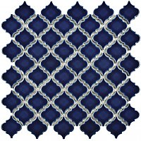 "Hudson Tangier Smoky Blue 12-3/8"" x 12-1/2"" Porcelain Mosaic Tile - Sold Per Case of 10- 10.96 Square Feet"