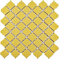 "Hudson Tangier Vintage Yellow 12-3/8"" x 12-1/2"" Porcelain Mosaic Tile - Sold Per Case of 10- 10.96 Square Feet"