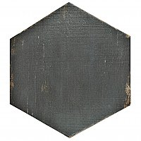 "Retro Hex Nero 14-1/8"" x 16-1/4"" Porcelain Tile - Sold Per Case of 9 - 11.05  Square Feet"