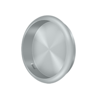 "Solid Brass Round Pocket or Sliding Door or Window Flush Pull - 2-1/2"" Diameter - Many Finishes Available"