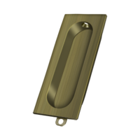 "Solid Brass Rectangle Pocket or Sliding Door or Window Flush Pull - 3-1/8"" - Many Finishes Available"
