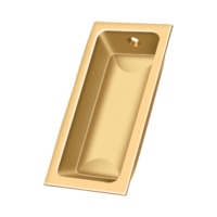 "Solid Brass Rectangle Pocket or Sliding Door or Window Flush Pull - 3-5/8"" - Many Finishes Available"