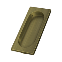 "Solid Brass Flush Pull for Sliding or Pocket Doors or Windows - 3-7/8"" - Multiple Finishes"
