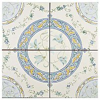 "Victorian Rian 13""x 13"" Ceramic Tile - Sold Per Case of 10 Pieces - 12.3 Square Feet Per Case"