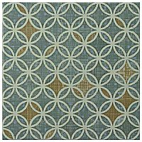 "Boheme Full 7-3/4""x 7-3/4"" Ceramic Tile - Blue, Gray, Orange - Per Tile - .42 Square Feet"