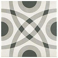 "Twenties Vintage Circle 7-3/4"" x 7-3/4"" Ceramic Tile - Sold Per Tile - .42 Square Feet Per Tile"