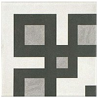 "Twenties Vintage Corner 7-3/4"" x 7-3/4"" Ceramic Tile - Sold Per Tile - .42 Square Feet Per Tile"